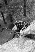 Rock Climbing Photo: Jeremy... finishing the crack