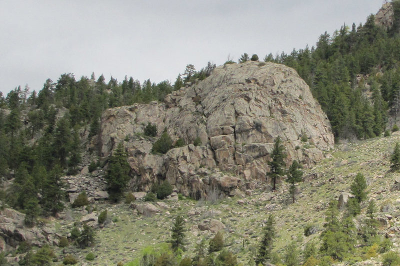 Rock Climbing Photo: Turtle Crag from CR-14.