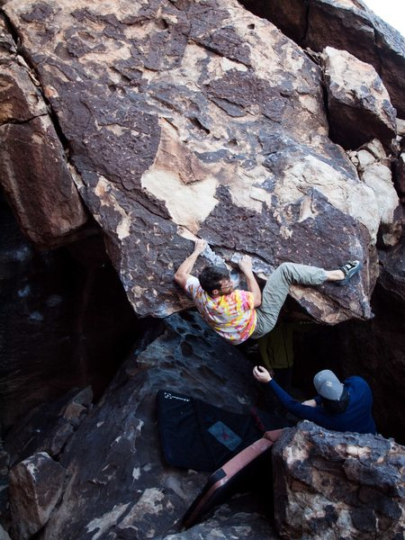Rock Climbing Photo: Me on the send.