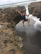Rock Climbing Photo: Finding some natural climbable rock in florida!