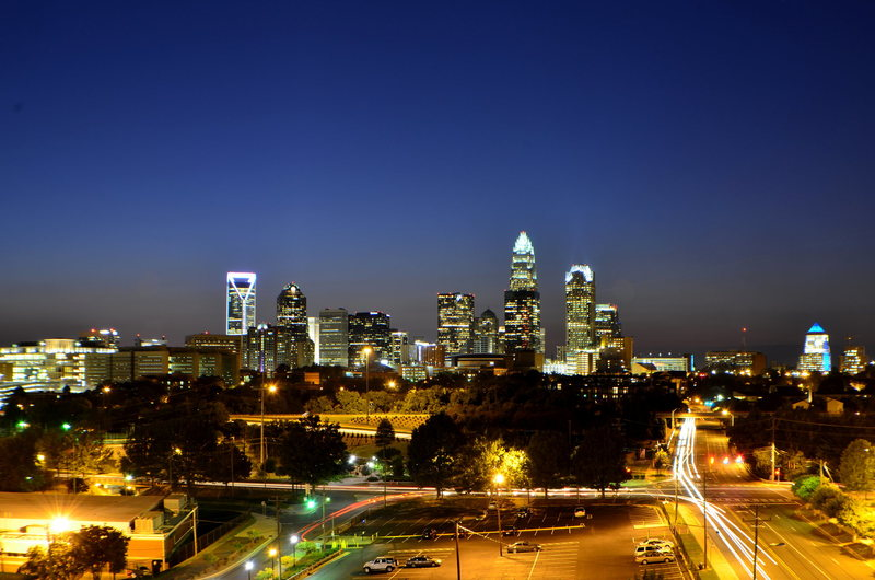 Night photo I took of Charlotte NC