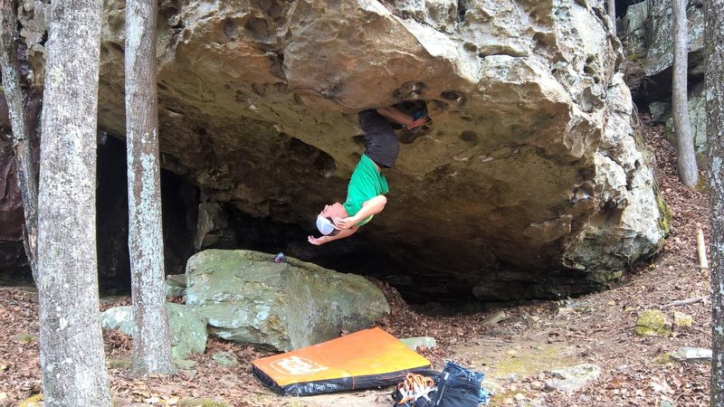 Take as long as you need on this solid double kneebar, before bumping your way out of the cave.