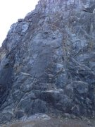 Rock Climbing Photo: Missing 1st bolt of Kirk Arens Arete