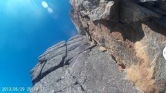 Rock Climbing Photo: Last chunk of the climb. We did it in one super-lo...