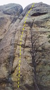 Rock Climbing Photo: ROUTE PATH