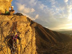 Taken on a go pro in-between pitches. Great night climbing during the summer/fall