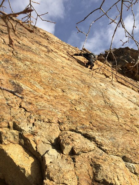 Rock Climbing Photo: Jabari half way up