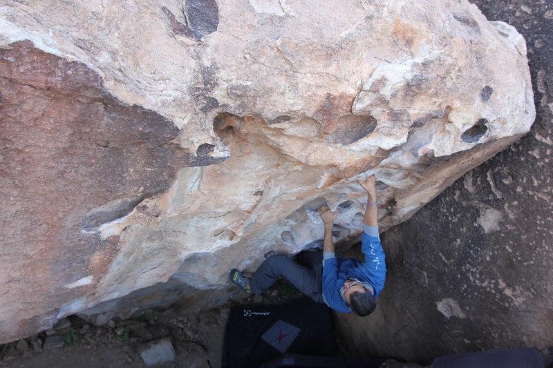 Rock Climbing Photo: Satan, Satan, Satan on East Mountain, Hueco Tanks