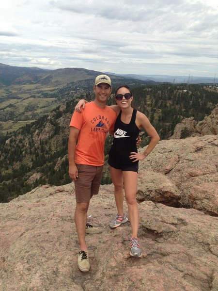 Horsetooth Mountain, Fort Collins, CO with my sister