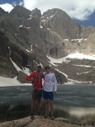Chasm Lake, RMNP with Andy Allstadt
