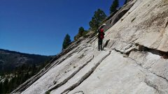 Rock Climbing Photo: This is one of the exposed sections of the approac...