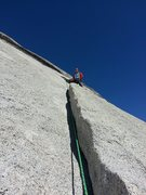 Rock Climbing Photo: This is the 5.5 section on the 1st Pitch if you ar...