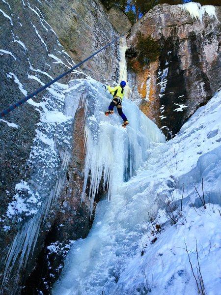 """Rock Climbing Photo: Toproping """"Climb Between Egos and Wimps""""..."""