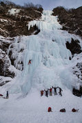 Rock Climbing Photo: Prepping Bridalvail Falls for the 2015 Ice Fest.