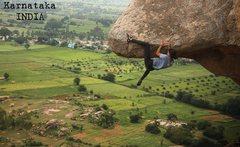 Rock Climbing Photo: Gowri Varanashi, at Hanchehalli, north of Bangalor...
