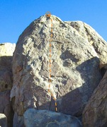 Rock Climbing Photo: Whippersnapper route on west wall.
