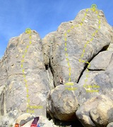 Rock Climbing Photo: South Face of the Hideout West