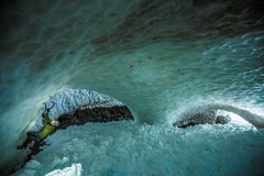 Rock Climbing Photo: This was inside the temporary glacier after the 20...