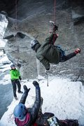Rock Climbing Photo: Pat taking the whipper like a top rope tough guy o...