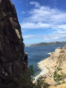 Rock Climbing Photo: Jason cruising up a new route!