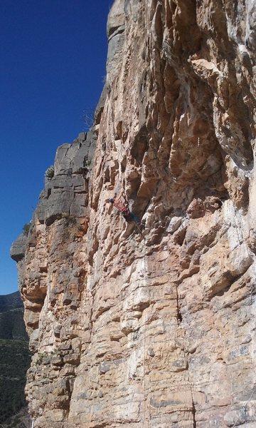 Rock Climbing Photo: Vince getting through the crux