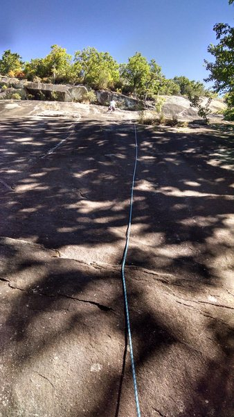 Rock Climbing Photo: First pitch of Ledge Slant