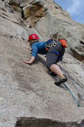 Rock Climbing Photo: Shae just going for it…