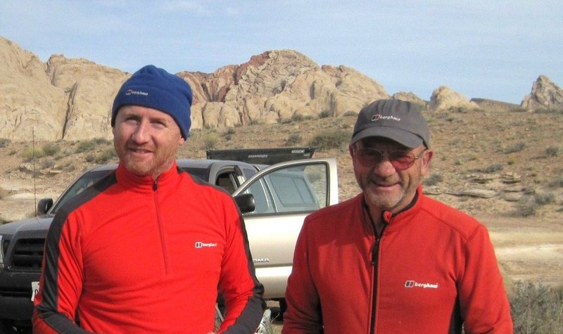 Rock Climbing Photo: Andy and Paul Ross .. Utah Desert