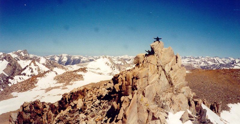 On the summit of Mount Gould