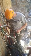 Rock Climbing Photo: Setting up at the belay anchors. Watch out for loo...