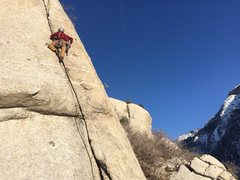 Rock Climbing Photo: great climb for cold but sunny weather