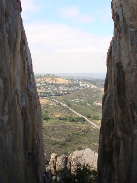 Rock Climbing Photo: View from the gully between Skyline Arete and Limb...