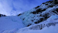 Rock Climbing Photo: Beautiful, featured ice.  Photo taken in early mor...