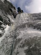 Rock Climbing Photo: moderate conditions. a little brittle, thin in som...