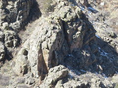 Rock Climbing Photo: New Hipster Rock from across the canyon at AAA Cra...