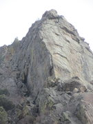 Rock Climbing Photo: Close-up of the crag from the road, showing the No...