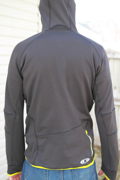 rear view, with rear pocket visible on right side