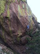 Rock Climbing Photo: Not sure about a crux up high, but this is definit...