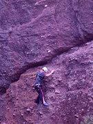 Rock Climbing Photo: Sascha Madrid leading Monolith