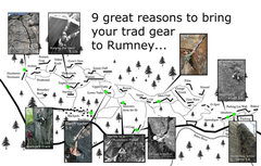 Rock Climbing Photo: Just a selection of the sweet trad routes at Rumne...