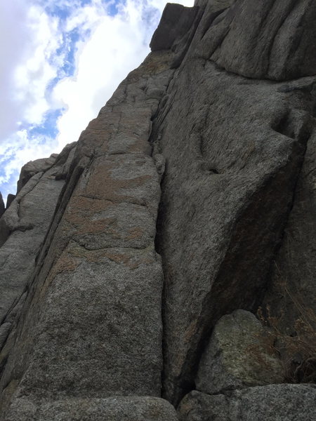Rock Climbing Photo: Great route with a distinct crux