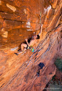 Rock Climbing Photo: Scott Lunsford concentrating on the crux move