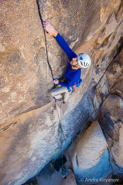 Rock Climbing Photo: Brandon Reedy on Right Baskerville Crack