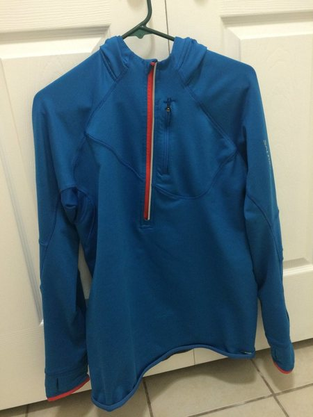 Salomon Hoody, Blue and Red