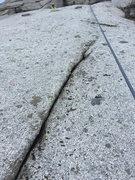 Rock Climbing Photo: The top where the crack runs out