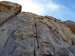 Rock Climbing Photo: I'm belaying from the top. Fedor just past the cru...