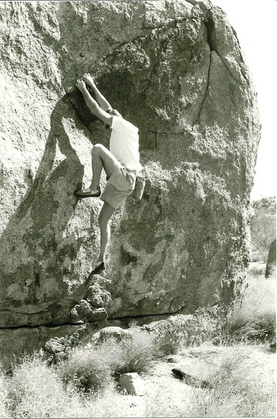 Rock Climbing Photo: Craig Fry on early ascent of Remote Sensor