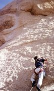 Rock Climbing Photo: Drilling the 2nd bolt on the first ascent of Shagg...