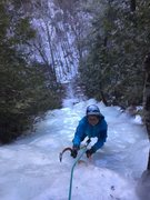 Rock Climbing Photo: Kathy enjoying her birthday on Quinn the Eskimo
