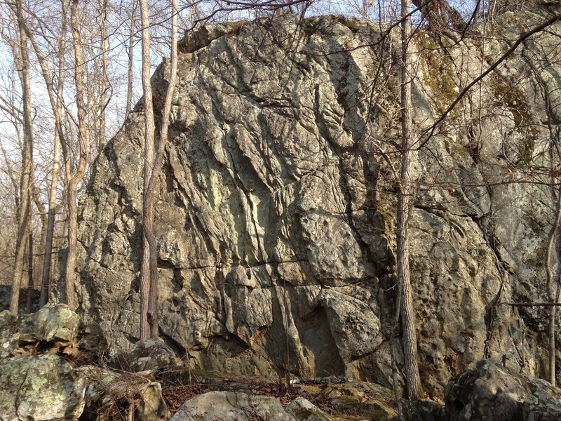 Rock Climbing Photo: Highball with lots of easier problems